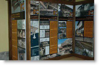 Vista del interior del Museo de la Madera de Caso